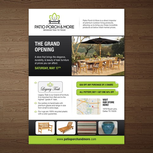 Looking for an Eye-Catching Grand Opening Postcard/Flyer