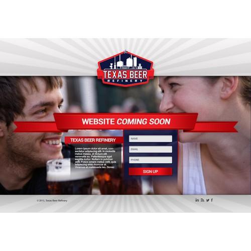 "Texas Beer Refinery - Website Landing Page ""Coming Soon"""