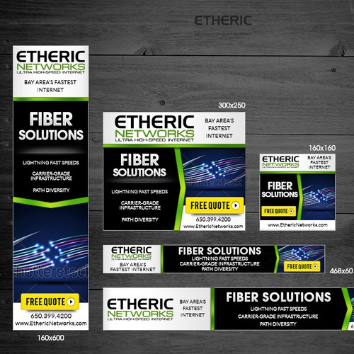 Banner Ad Design - Create Banner Ad for Fiber Internet Solutions
