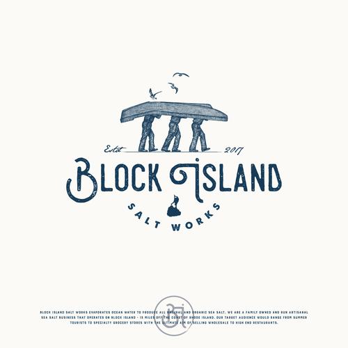 Logo for artisanal handmade Sea Salt off the New England Coast