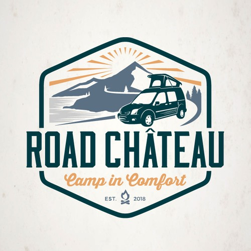 A badge type logo of Road Chateau