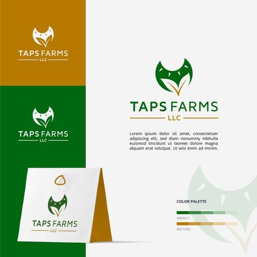 TAPS Farms Logo Design