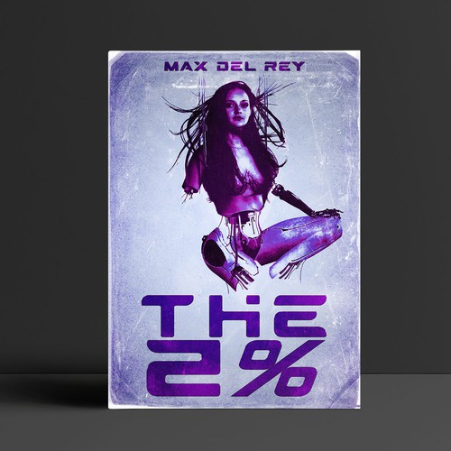 "Sci-Fi Book Cover Design for "" The 2% """