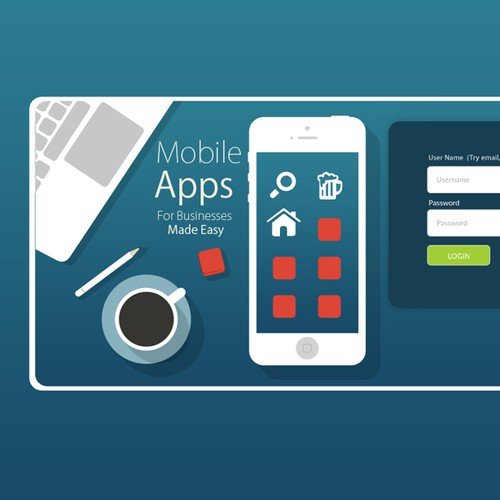 Create the next AMAZING log in page for Bizness Apps!
