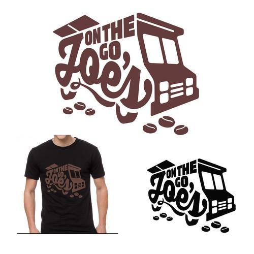 """On The Go Joe's"" Coffee Truck Logo"