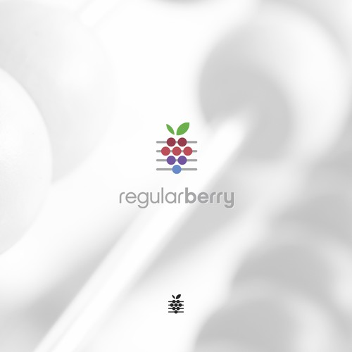 Creative berry logo for math based apps