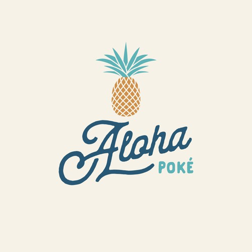 Aloha Poke Logo & Loyalty Card design