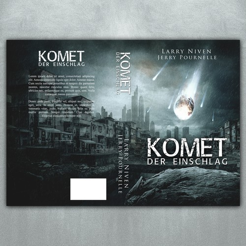 "Book cover for the science fiction novel ""Komet"""