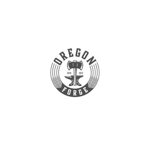A simple logo of Oregon Forge.
