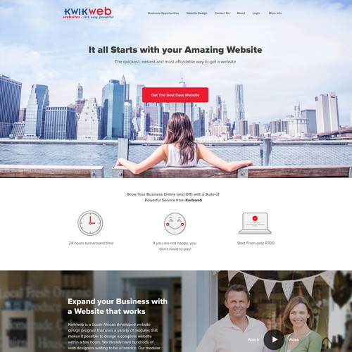 website builder homepage