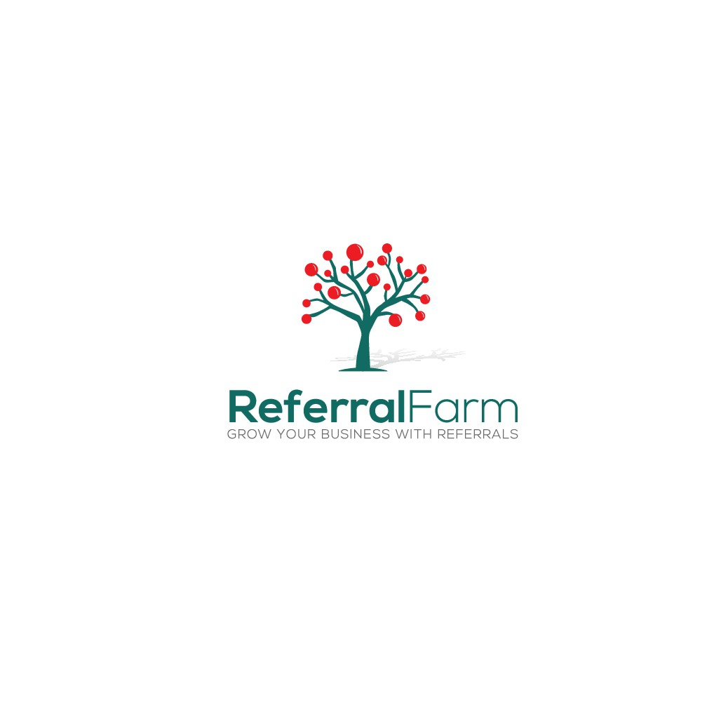 Customer referral service for businesses, seeking fun and approachable logo
