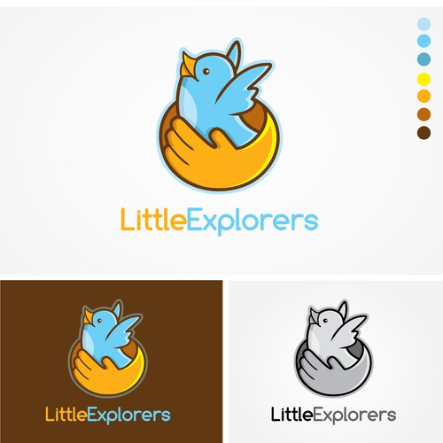 Logo concept for Little explorers