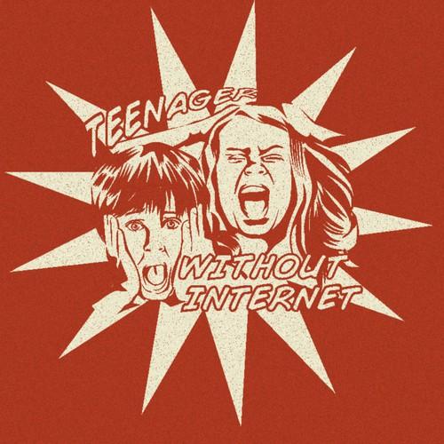 +++ Desperate panic Face in retro comic style +++