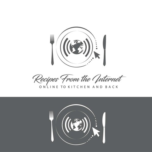 Logo design for online recipes database