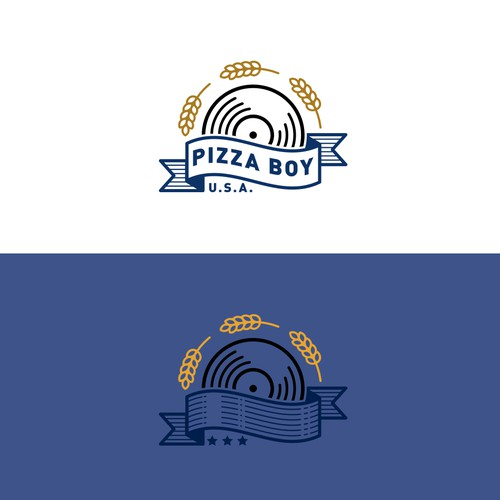 Logo concept for Pizza Boy