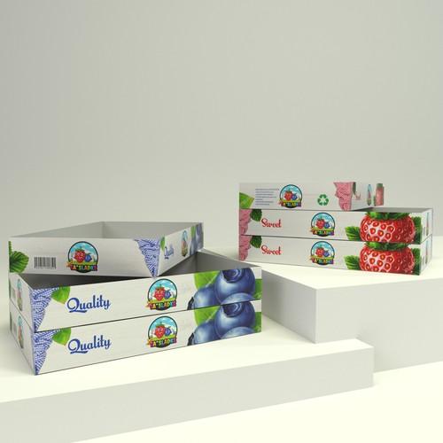Strawberry and Blueberry cartoon
