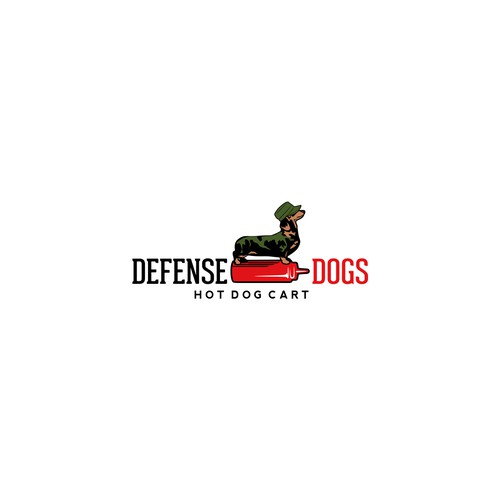Illustrative logo for hot dog cart