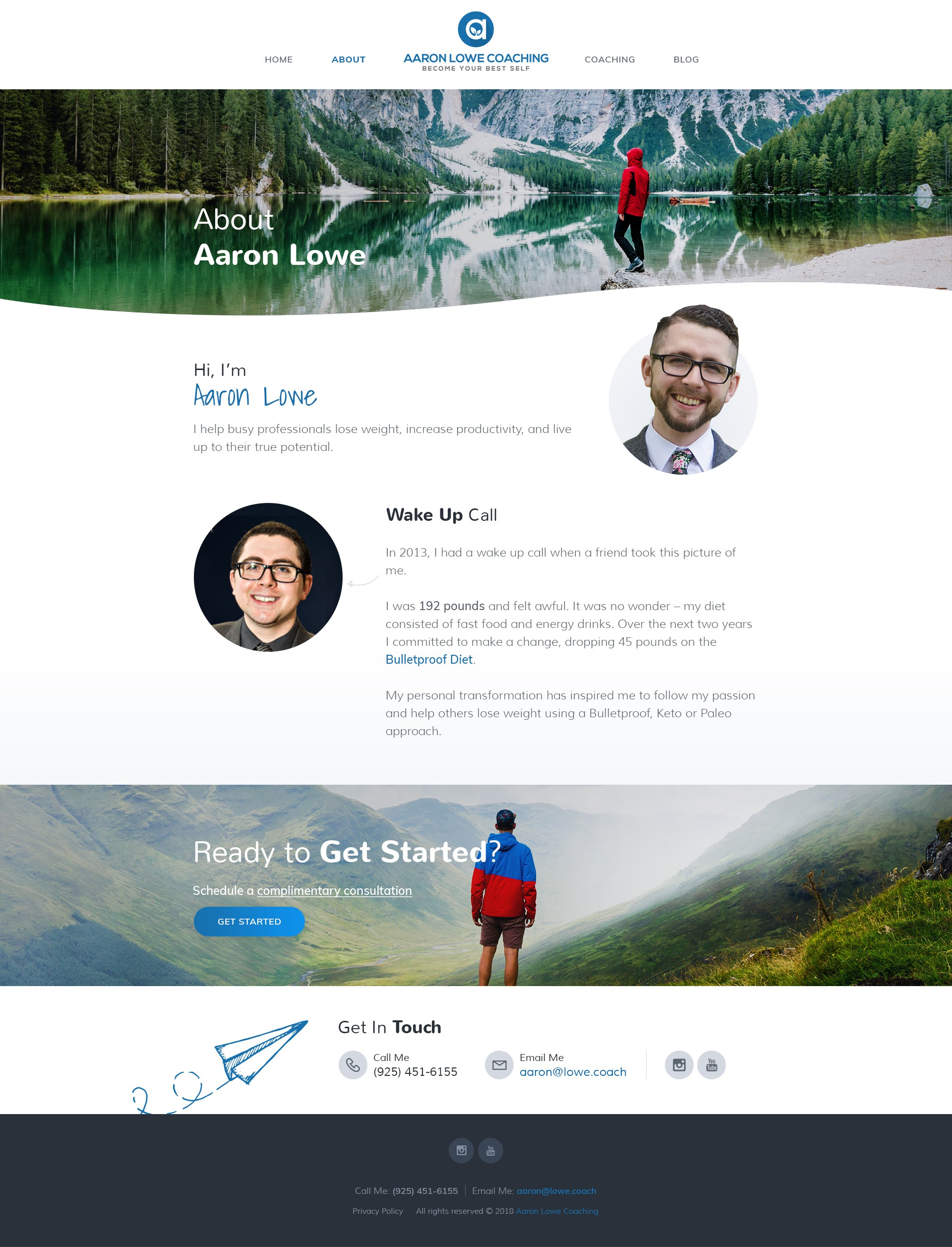 Design a Website for Aaron Lowe Coaching