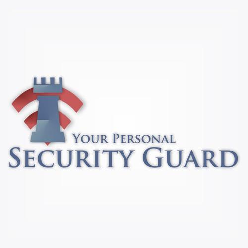 Logo for alarm company