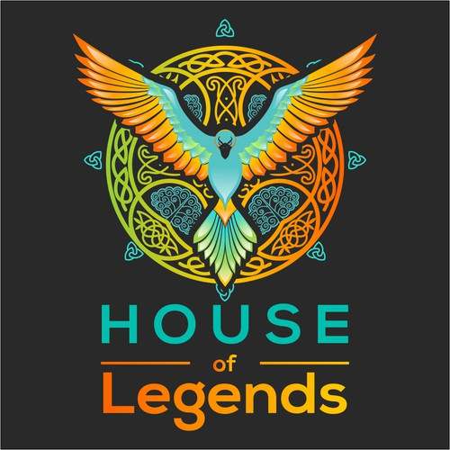 Colorful logo for House of legends
