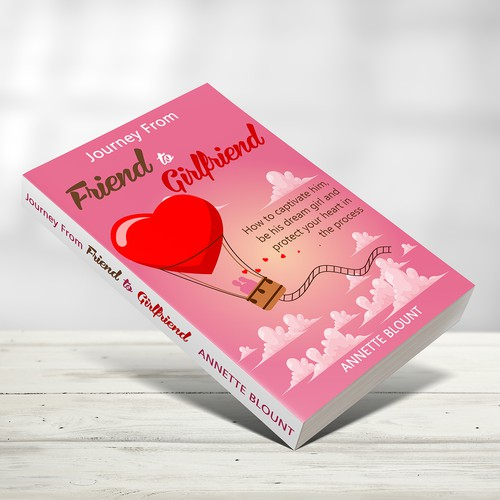 Design a book cover that is fun and playful to help single women experience love beyond friendship