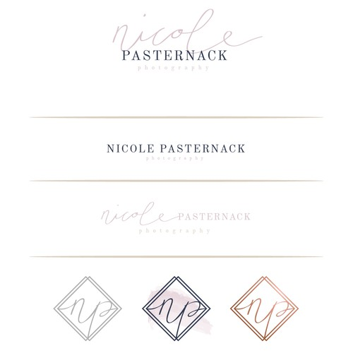 Casual upscale logo for photographer
