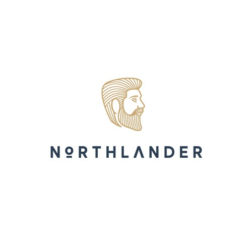 Luxurious logo for a beard product