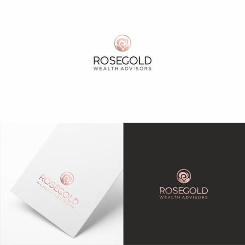 Elegant logo concept  for wealth advisors