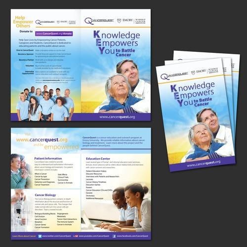 CancerQuest Wants a Patient Friendly Brochure Design