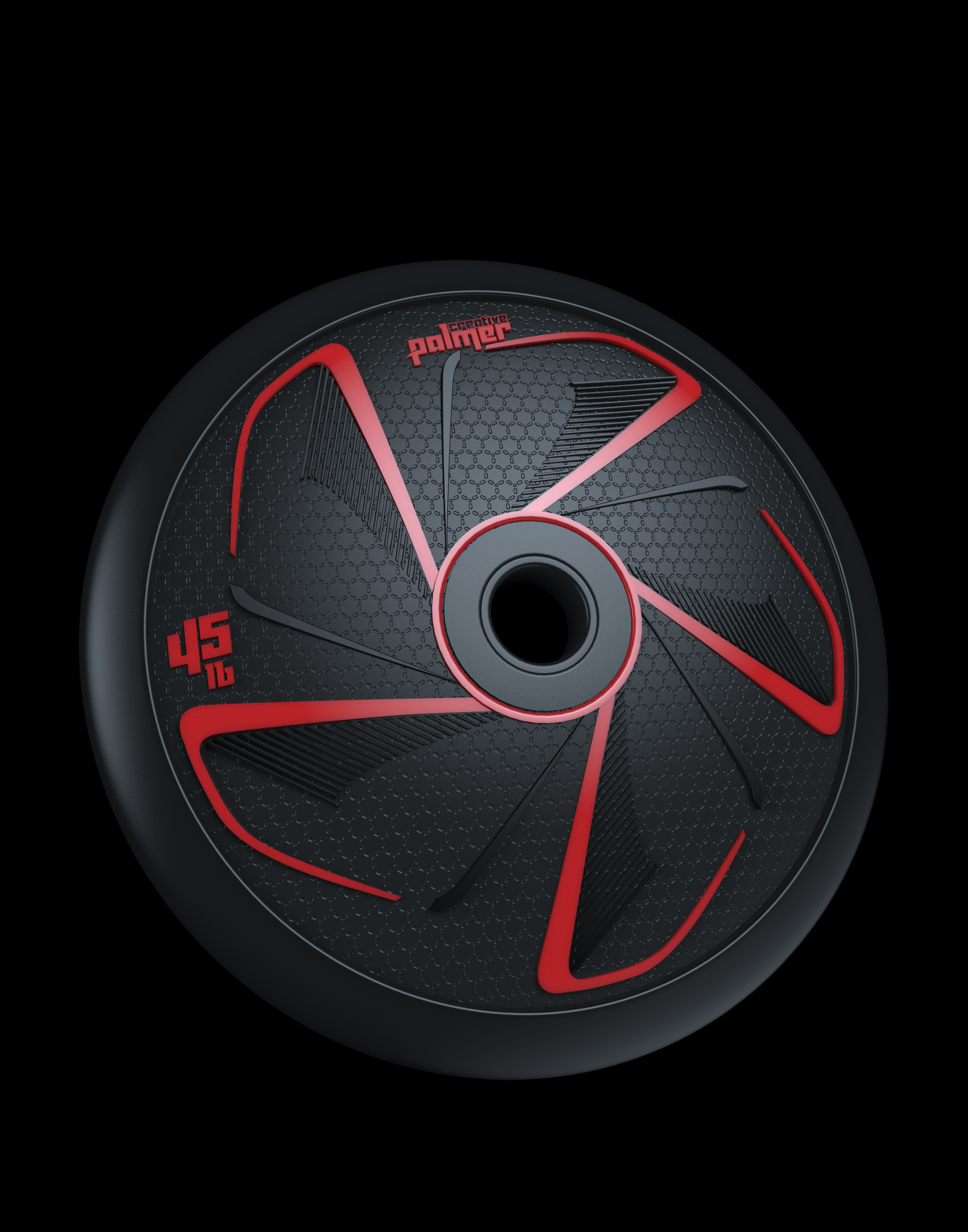 Fitness Weight Plate Product Design