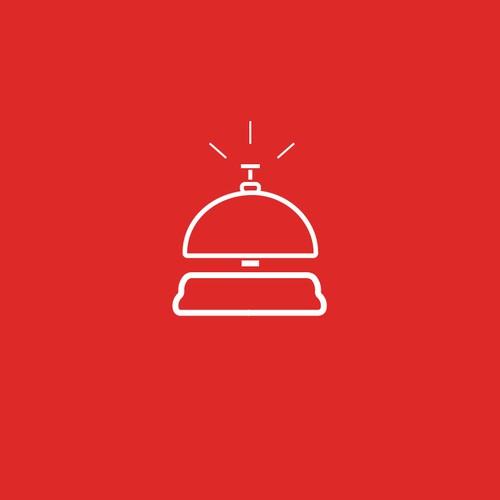 Desk bell minimal illustration-logo