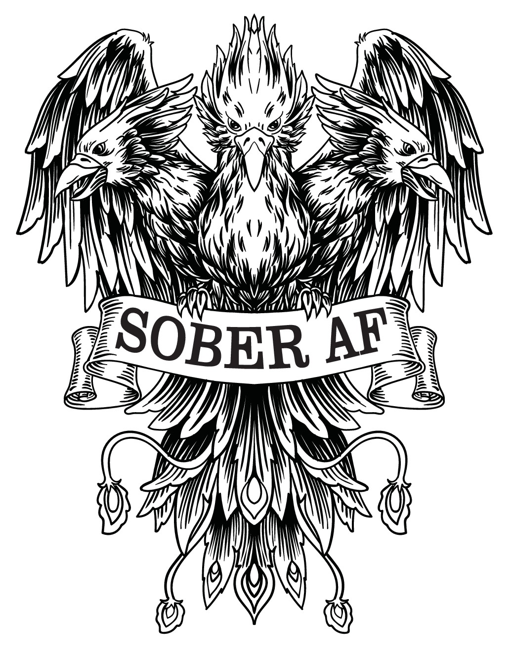 Design a signature tee for the SoberAF Tribe!