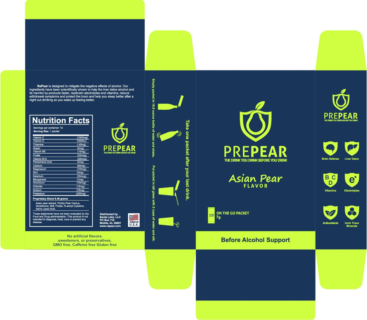 Packaging design including box and stick pack