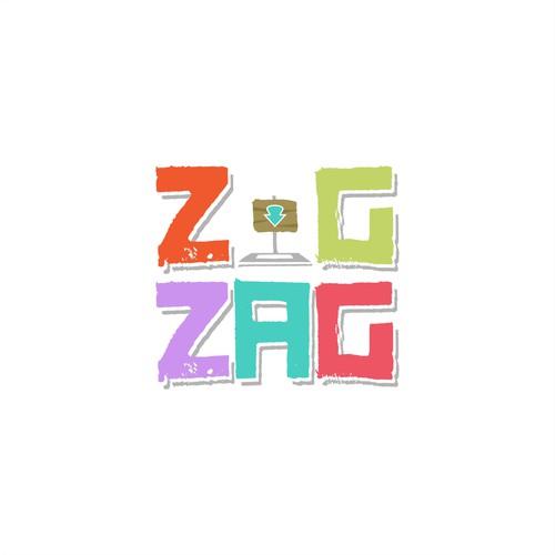 Playful logo design for ZigZag