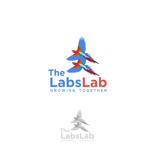 Clean illustration logo concept for The Labs Lab
