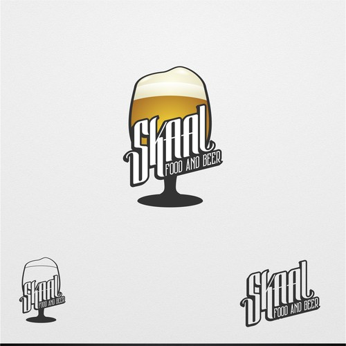 logo concept for food and beer