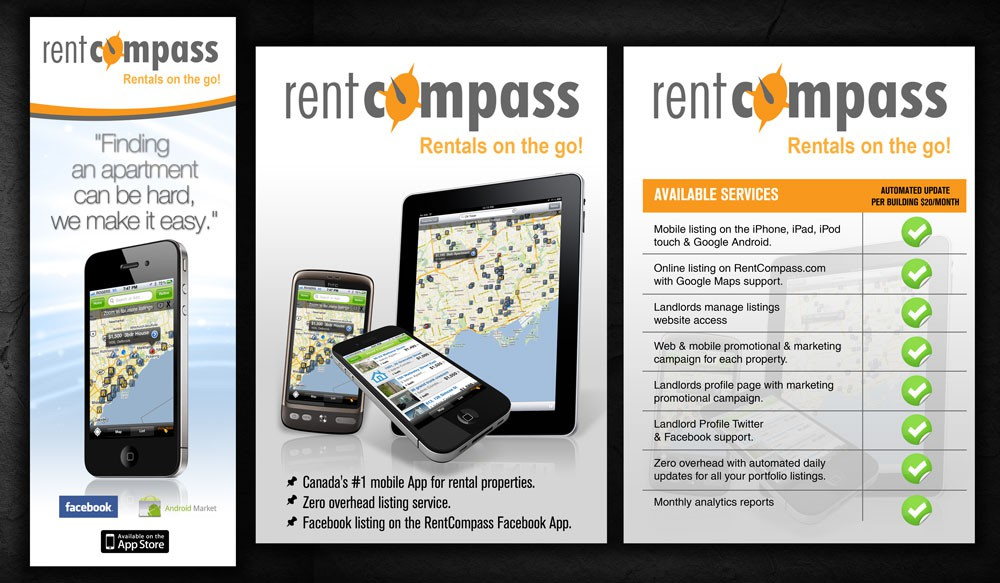 Postcard & flyer for mobile Apps