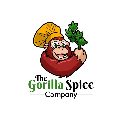 The Gorilla Spice Company logo design