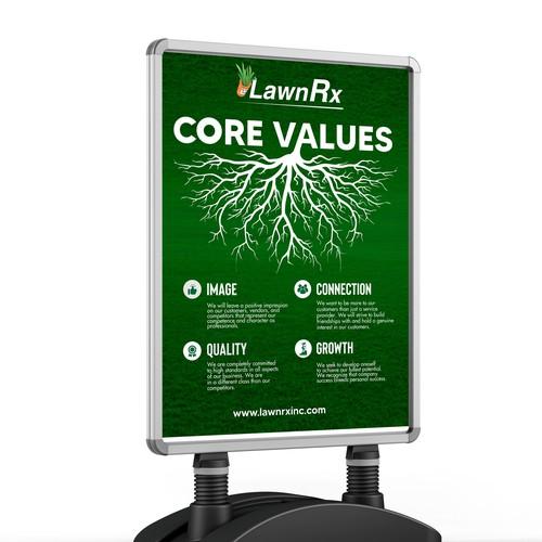 Core Values Poster Design