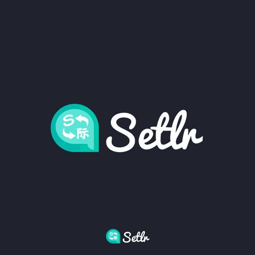 Logo for language and translatation app