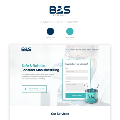 Landing Page Concept for BAS Research