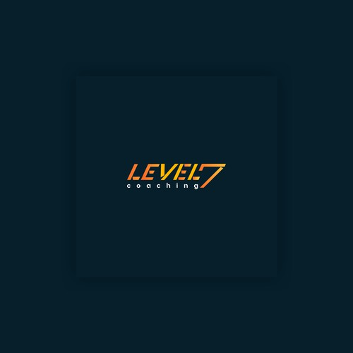 the concept of a personal fitness training logo called LEVEL 7