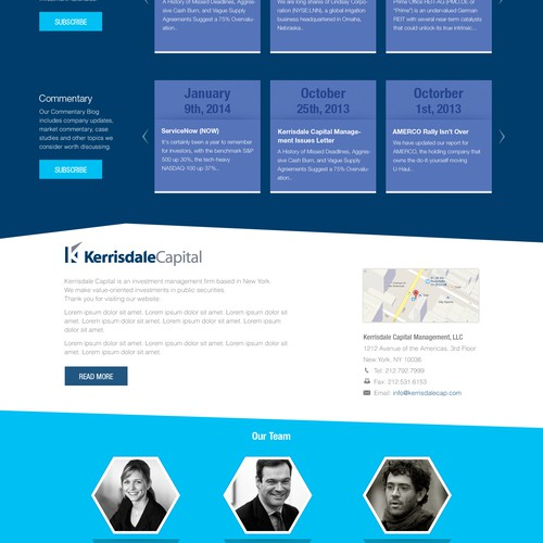 Design Sleek Website for Financial Investment Research Company