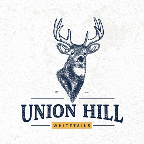 Logo for a whitetail deer breeding company