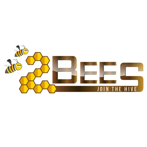 Create a business logo for Two Bees - a digital marketing training company.
