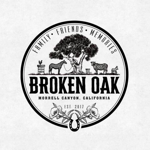 Logo for the Broken Oak family farm