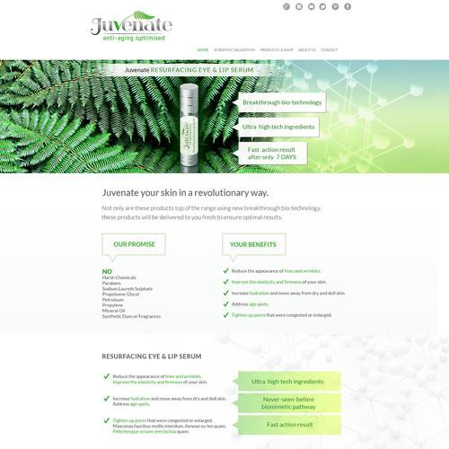 Webdesign for a Cosmetics Company