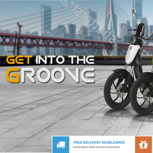 AWESOME Banner for E-bike Scooter Website