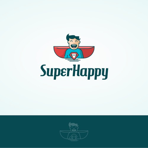 Logo Design for Super Happy - First draft