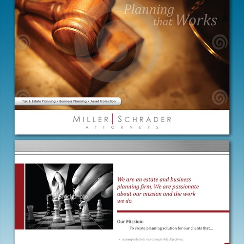Creative Professional Law Firm Brochure